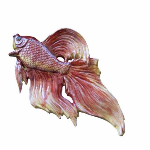 El Goldfish es brillante de la perla Fotoescultura Vertical