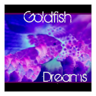 El Goldfish púrpura y azul soña la decoración de l Impresiones