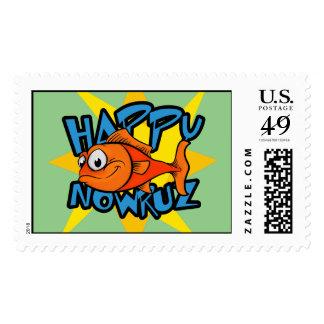 El Goldfish que salta el Año Nuevo Eid e Noruz de Timbres Postales