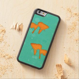 El Goldfish siluetea la caja del teléfono del agua Funda De iPhone 6 Bumper Arce