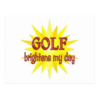 El golf aclara mi día postal