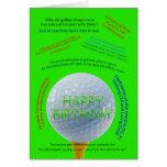El golf bromea tarjeta de cumpleaños