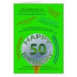 El golf bromea tarjeta de cumpleaños para 50 años