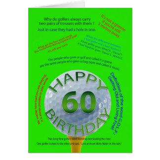 El golf bromea tarjeta de cumpleaños para 60 años