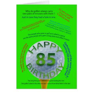 El golf bromea tarjeta de cumpleaños para 85 años