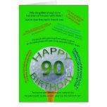 El golf bromea tarjeta de cumpleaños para 90 años