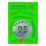 El golf bromea tarjeta de cumpleaños para 95 años