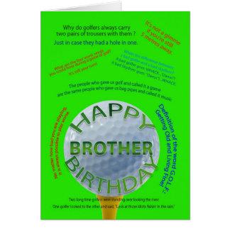 El golf bromea tarjeta de cumpleaños para Brother