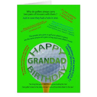 El golf bromea tarjeta de cumpleaños para el Grand