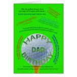El golf bromea tarjeta de cumpleaños para el papá