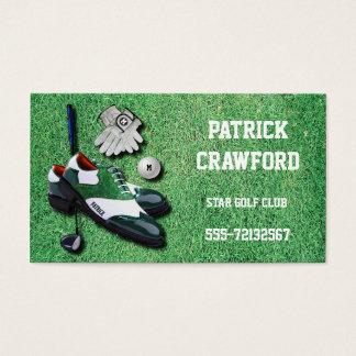 El golf calza el conductor del club de los guantes tarjetas de visita
