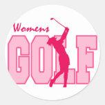 El golf de las mujeres rosadas pegatinas