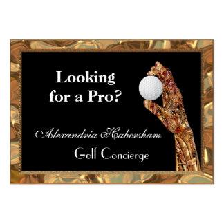 El golf es el juego tarjetas de visita