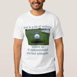 El golf es el mucho caminar poleras