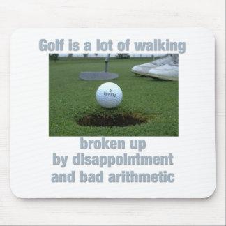 El golf es el mucho caminar tapetes de raton