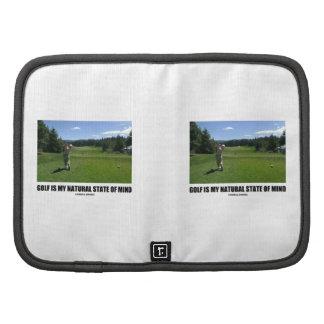 El golf es mi estado de ánimo natural (el Golfing  Organizadores