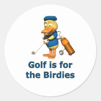 El golf está para los chirridos pegatina redonda