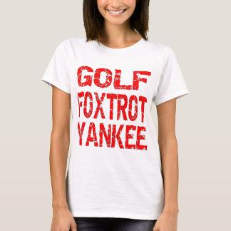 El golf Foxtrot el yanqui GFY Playera