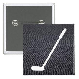 El golf golpea el pictograma pin cuadrada 5 cm