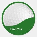 El golf le agradece los pegatinas pegatina redonda