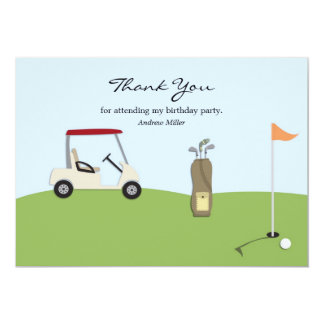 El golf le agradece tarjeta plana invitación 12,7 x 17,8 cm