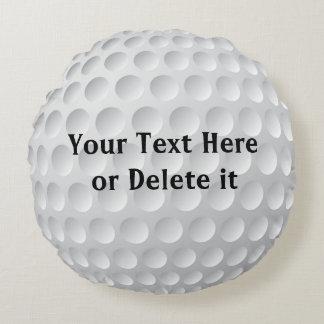 El golf personalizado soporta SU TEXTO o el texto Cojín Redondo