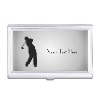 El golf personalizó la caja de la tarjeta de caja de tarjetas de visita