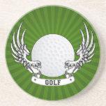 El golf se va volando el práctico de costa posavasos manualidades