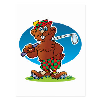 El Golfing del Gopher del dibujo animado Postal