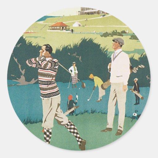 El Golfing en el club Pegatina Redonda