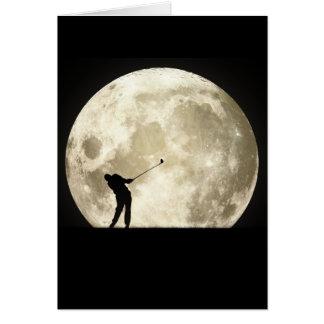 El Golfing en la noche Tarjeta De Felicitación