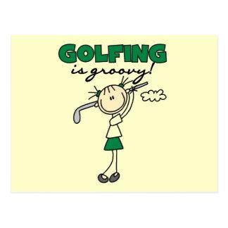 El Golfing es camisetas y regalos maravillosos Tarjeta Postal