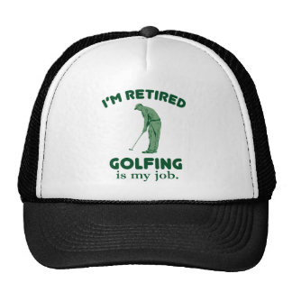 El Golfing es mi trabajo Gorros Bordados