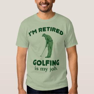 El Golfing es mi trabajo Polera