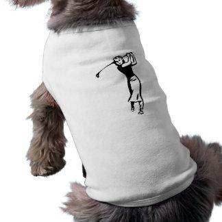 El Golfing femenino del golfista Camisa De Perrito
