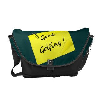 El golfing ido divertido bolsas de mensajería