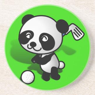 El Golfing lindo del oso de panda del bebé del dib Posavasos Cerveza