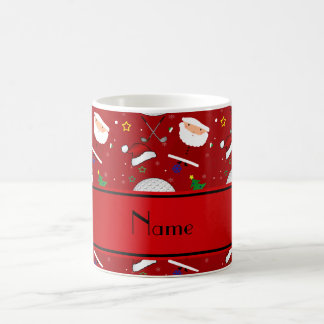El golfing rojo conocido personalizado del navidad tazas de café