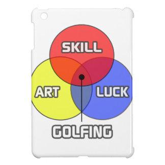 El Golfing. Suerte del arte de la habilidad