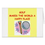el golfing tarjeta