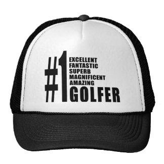 El Golfing y golfistas: Golfista del número uno Gorro