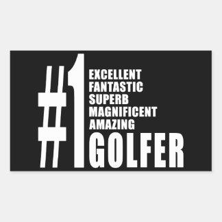 El Golfing y golfistas: Golfista del número uno Rectangular Pegatina