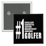 El Golfing y golfistas: Golfista del número uno Pins