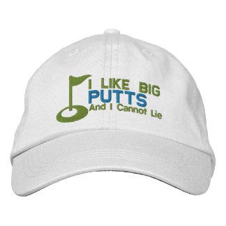 El golfista I tiene gusto de putts grandes Gorras De Beisbol Bordadas