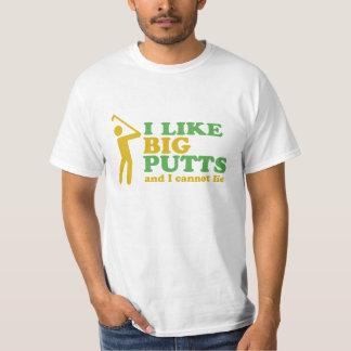 El golfista I tiene gusto de putts grandes y no Playeras