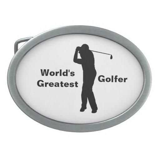 El golfista más grande del mundo, hebilla del cint hebillas de cinturon ovales