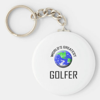 El golfista más grande del mundo llavero redondo tipo pin