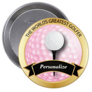 El golfista más grande del mundo pin redondo 10 cm