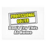 El golfista profesional… no intenta esto en casa invitación