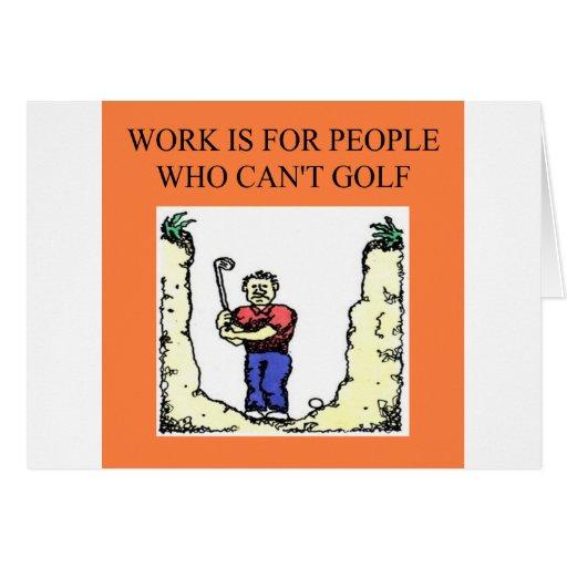 el golfista tarjeta de felicitación